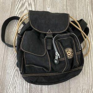 Kipling Black Distressed Mini Backpack